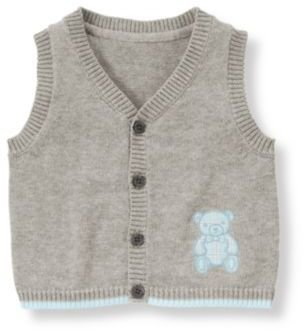 Janie and Jack Teddy Bear Sweater Vest