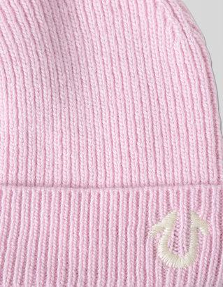 True Religion Knit Beanie With Pom