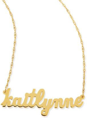 Jennifer Zeuner Jewelry Serafina Personalized Mini Nameplate Necklace