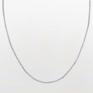 Lynx Stainless Steel Box Chain Necklace - 22-in.