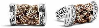 John Hardy Men's Classic Chain Bronze and Silver Braided Cufflinks