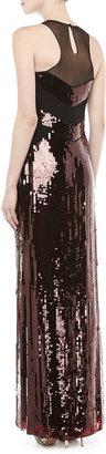 Jason Wu Sequined Mesh Sleeveless Gown