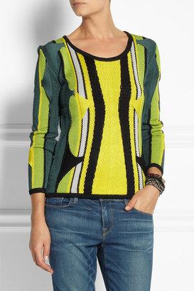 Peter Pilotto Knitted silk sweater
