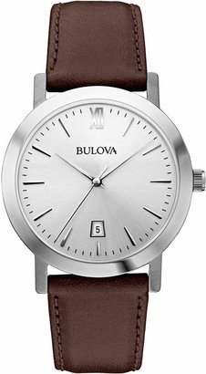 Bulova Unisex Dark Brown Leather Strap Watch 38mm 96B217 $175 thestylecure.com