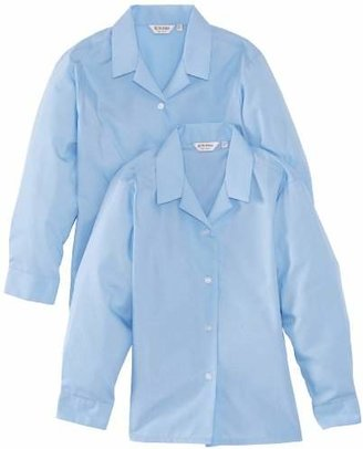 """Trutex Girl's Long Sleeve Non-Iron Rever Blouse,(Manufacturer Size: 42"""" Chest)"""