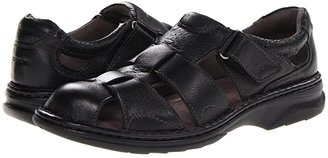 Florsheim Getaway Fisherman Sandal (Black) Men's Hook and Loop Shoes