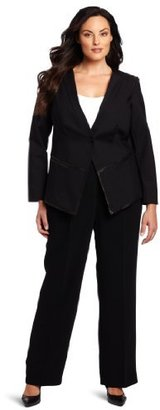 Kenneth Cole Women's Plus-Size Blazer With Detailing