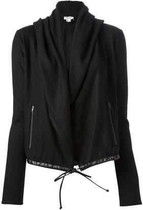 Helmut Lang draped drawstring jacket