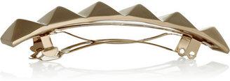 Valentino Gold-tone studded hairclip