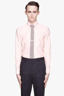 Thom Browne Washed Orange Classic Oxford shirt