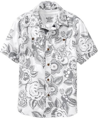 Old Navy Boys Reverse Print Shirts