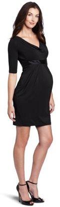 Jules & Jim Women's Maternity Hot Mama Neck Dress