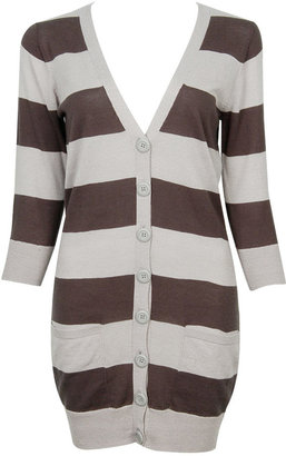 Forever 21 Courtney 3Q Striped Cardigan