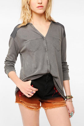 Urban Outfitters Ecote Night Hawk Knit Surplus Shirt