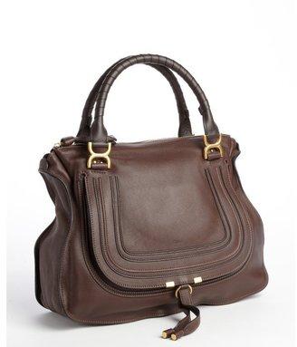 Chloé coffee shot leather 'Marcie' satchel