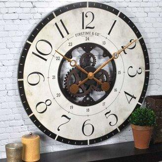 FirsTime Oversized Carlisle Gears Wall Clock (