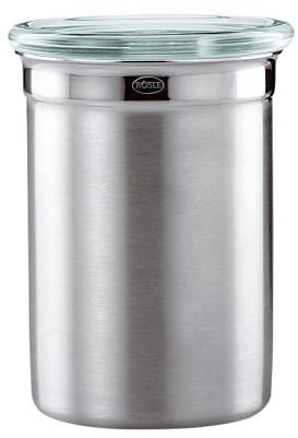 Rosle Stainless Steel Jar with Glass Lid, 9.6 oz.