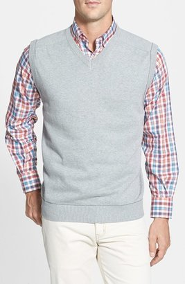 Men's Big & Tall Cutter & Buck 'Broadview' V-Neck Sweater Vest $78 thestylecure.com