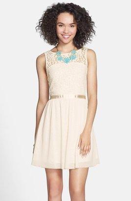 Frenchi Lace Bodice Dress (Juniors)