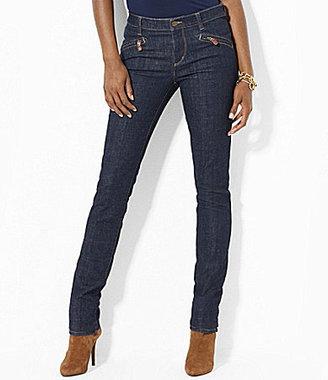 Lauren Ralph Lauren Zip-Pocket Stretch Straight Jeans