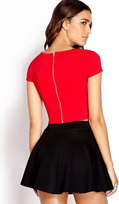 Forever 21 Daring Zippered Crop Top