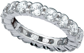 Crislu Ring, Platinum Over Sterling Silver Cubic Zirconia Eternity Band (3-5/8 ct. t.w.)