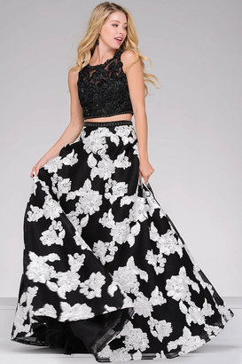 Jovani - Embroidered Two-Piece A-line Prom Dress 47746 $680 thestylecure.com