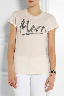 Zoe Karssen Merci cotton and modal-blend T-shirt