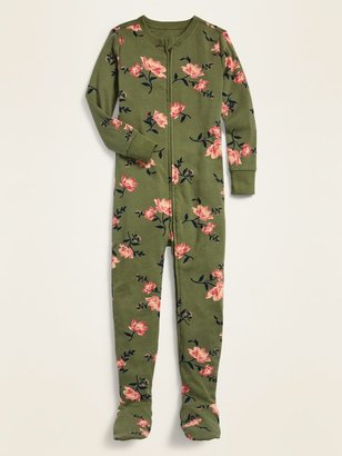 Old Navy Printed Footie Pajama One-Piece for Toddler Girls & Baby