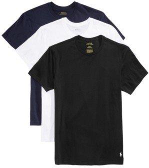 Polo Ralph Lauren Men's Undershirt, Slim Fit Classic Cotton Crews 3 Pack