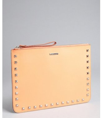 Rebecca Minkoff coral studded leather 'Lissa' wristlet zip pouch