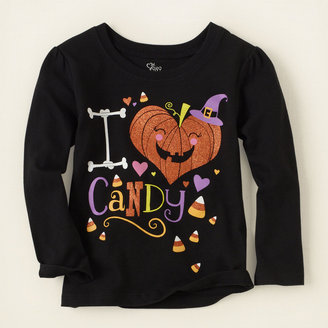 Children's Place Halloween candy love graphic tee