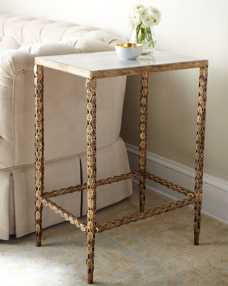 Horchow Marble-Top Side Table