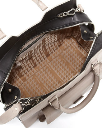 Proenza Schouler PS13 Medium Bicolor Satchel Bag, Gray/Back