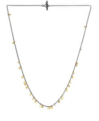 SIA Taylor Yellow gold and oxidised-silver necklace