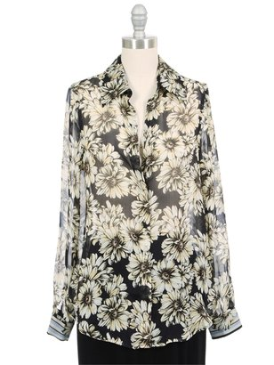 L'Agence Silk Button Down Blouse