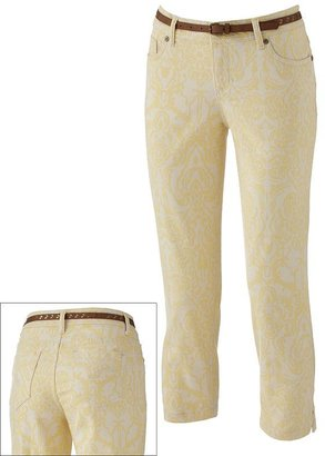 Sonoma life + style scroll denim ankle pants - petite