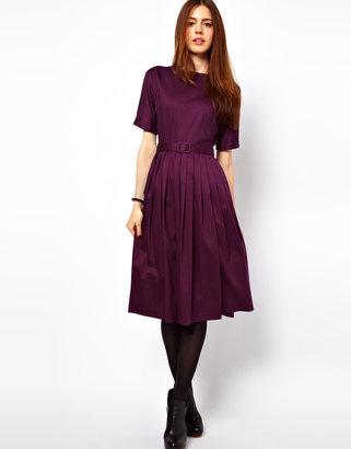 Asos Midi Dress With Full Skirt