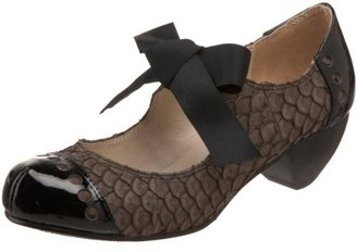 All Black Women's Fish Bow Mary Jane Pump