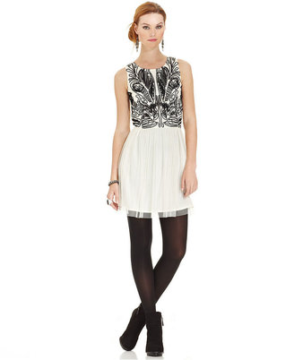 American Rag Dress, Sleeveless Embroidered A-Line