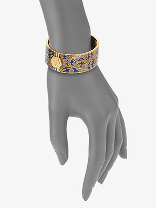 Alexander McQueen Enamel Skull Bracelet