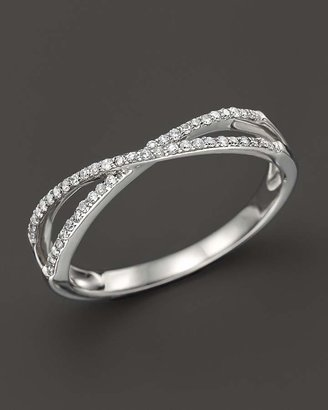 Bloomingdale's Diamond Crossover Band in 14K White Gold, .14 ct. t.w.