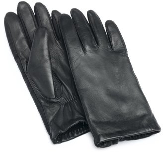 Isotoner Women's Stretch Leather Fleece Lined Glove