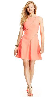 Ivanka Trump Zip-Front Pleated Dress