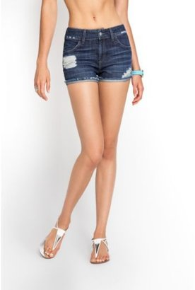 GUESS Scarlet Relaxed Denim Shorts in Mid-City Destroy Wash