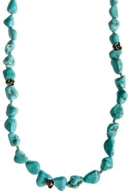 Lucky Brand Silver-Tone Turquoise Strand Necklace