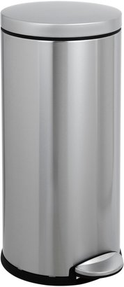 Simplehuman Round Pedal Bin, Brushed Stainless Steel, 30L