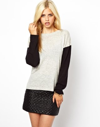 Glamorous Color Block Sweater