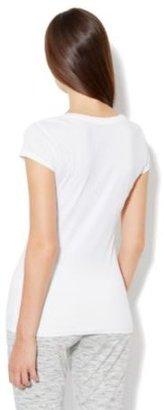 New York & Co. Love, NY&C Collection - Sparkle Logo Tee Shirt