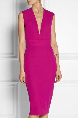 Victoria Beckham Silk and wool-blend crepe dress